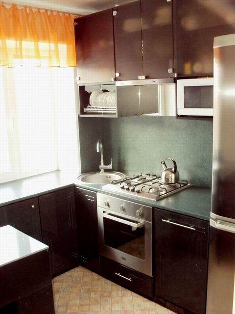 Дизайн кухни в 12 этажке 138
