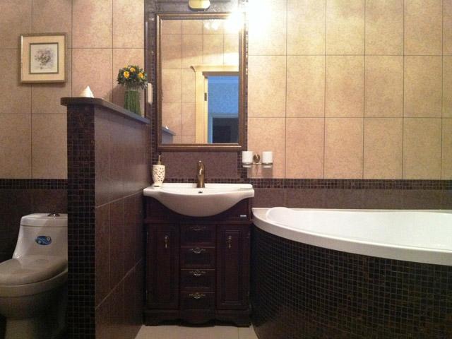 Дизайн раздельной ванны и туалета